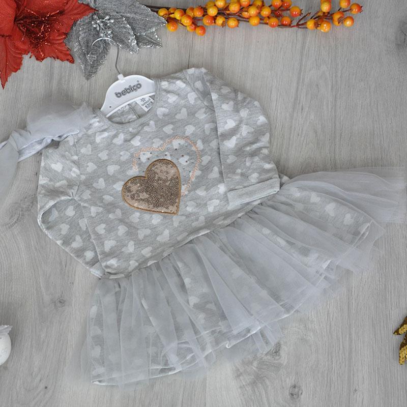 Детское трикотажное платье, размер: 9-12, 12-18, 18-24 мес (3 ед. в уп.)