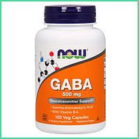 Now Foods, ГАМК 500 мг, GABA, гамма-аминомасляная кислота, 100 растительных капсул