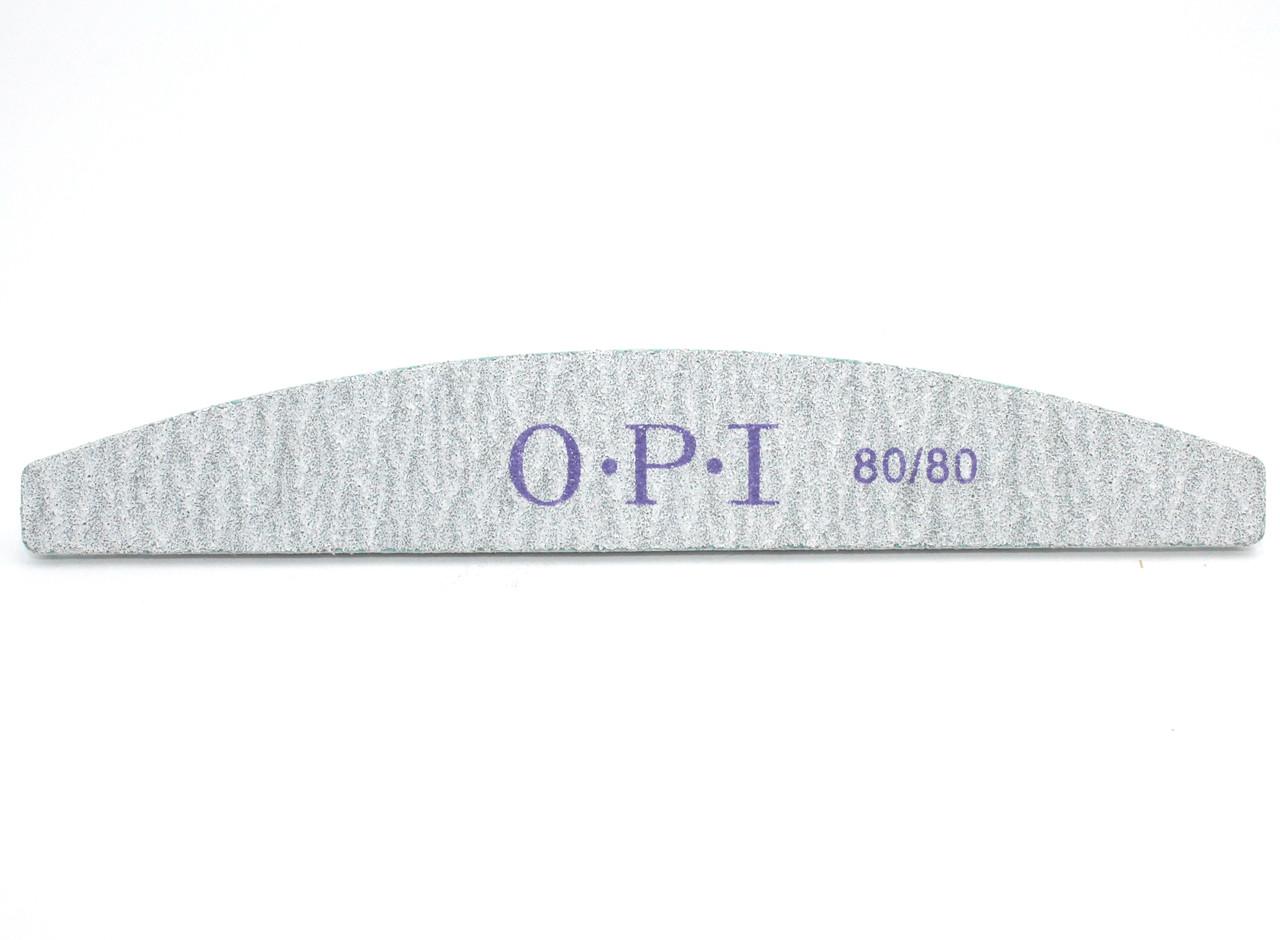 Пилка для ногтей OPI 80/80, полукруг, серая