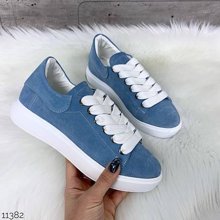Кроссовки женские бело голубые, фото 2