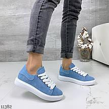 Кроссовки женские бело голубые, фото 3