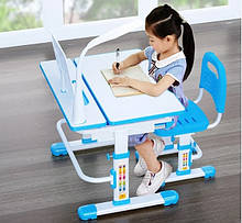 Комплект Cubby парта трансформер и стульчик Botero Blue для школы и дома