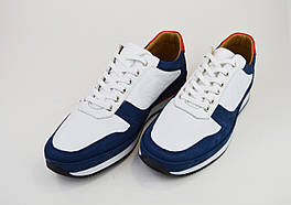 Кросівки чоловічі Rovigo 1796 біло-сині шкіра