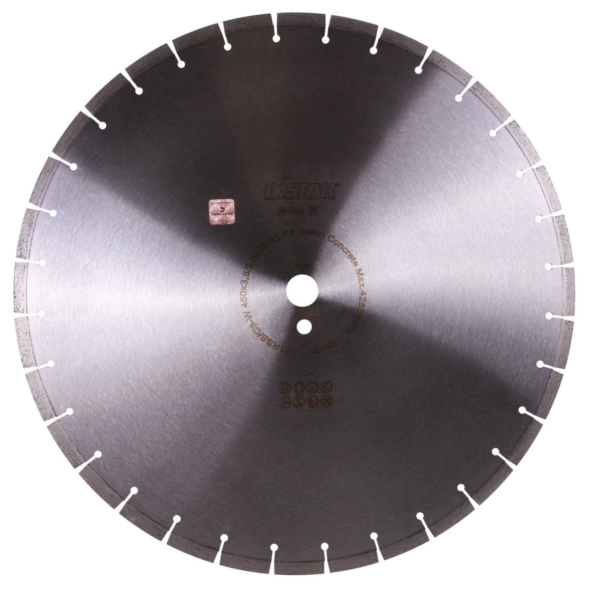 Круг алмазный отрезной 1A1RSS/C3-W 450x3,8/2,8x10x25,4-32 F4 Green Concrete