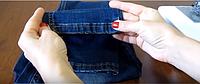 Как подшить джинсы, оставив производственные потертости.