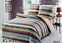 Комплект постельного белья полуторный  Elway 5042 cатин