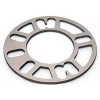 Автомобильное расширительное кольцо (Spacer) ZW H = 8 мм PCD от 4*98 до 5*120 Хром
