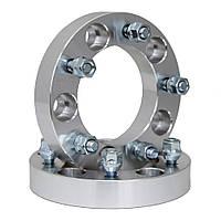 Автомобильное расширительное кольцо (Spacer) ZW H = 30 мм PCD5*139.7  DIA108.1, футорка 12*1,5 Хром