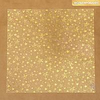 Ацетатный лист с фольгированием «Золотые звезды», 30,5 × 30,5 см
