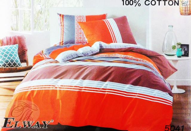Комплект постельного белья полуторный  Elway 5041 cатин