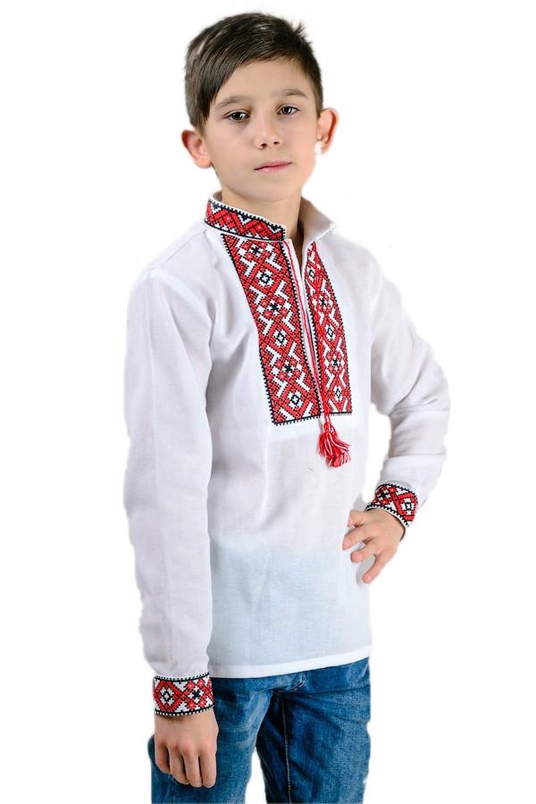 Вышиванка Тарасик (красный орнамент)
