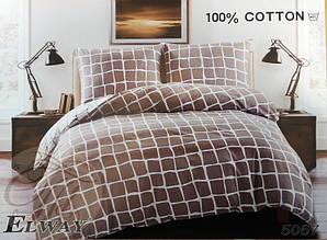 Комплект постільної білизни полуторний Elway 5067 сатин