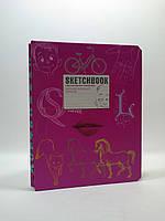 Sketchbook Скетчбук УКР SketchBook [2] малинова палітурка
