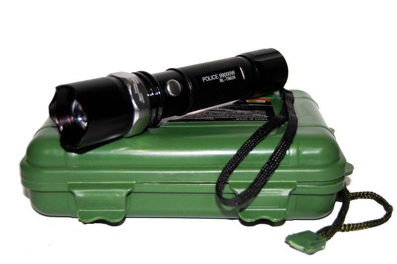 Ручной мощный фонарик с регулировкой фокуса BL-T8628 | Ліхтарик (Реплика)