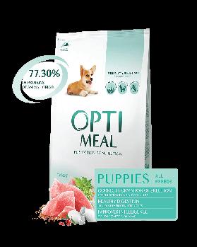 Opti Meal 4 кг. Корм для щенков всех пород - Индейка