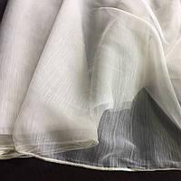 Тюль однотонный цвет экру с лёгким блеском. Турецкая тюль. Отрез 4.8м