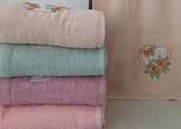 Махровое банное полотенце Бабочка