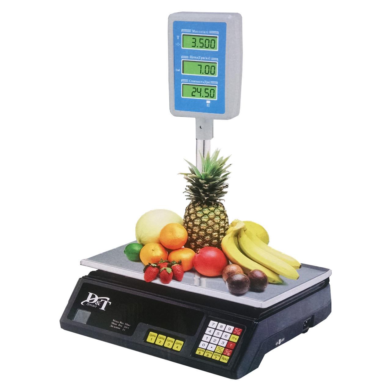 Весы торговые электронные 40 кг DT Smart DT-5053