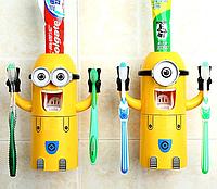 Автоматический дозатор для зубной пасты с держателем для щеток Миньон