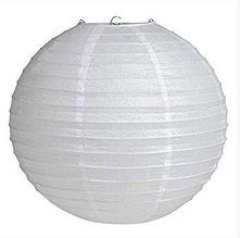 Бумажный подвесной шар белый, 20 см.