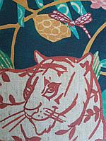 Обои виниловые на флизелине Marburg 31862 New modern детские джунгли растения бабочки животные тигры пантеры, фото 1