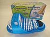 Массажный тапочек Easy Feet Щётка-массажёр для ног Голубой, фото 4