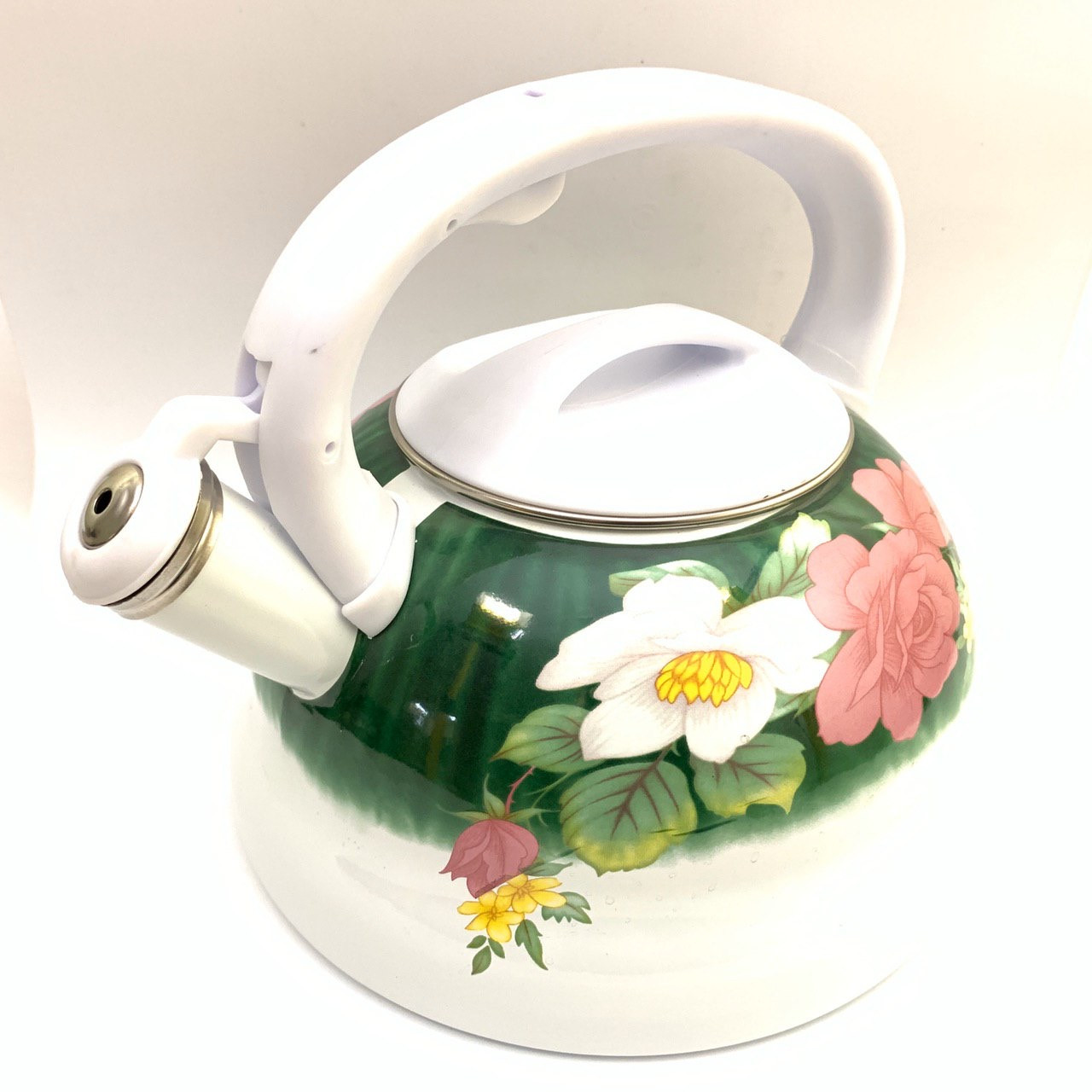 Чайник с свистком Hoffner 4932 Wild Flowers 3,3 литра, индукцуя, газ, электро, стекло