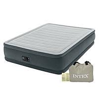 Надувная кровать 203*152*46 см двухспальная с встроенным насосом Intex 64126, фото 1