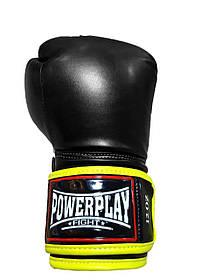 Боксерські рукавиці PowerPlay 3074 чорні 10 унцій