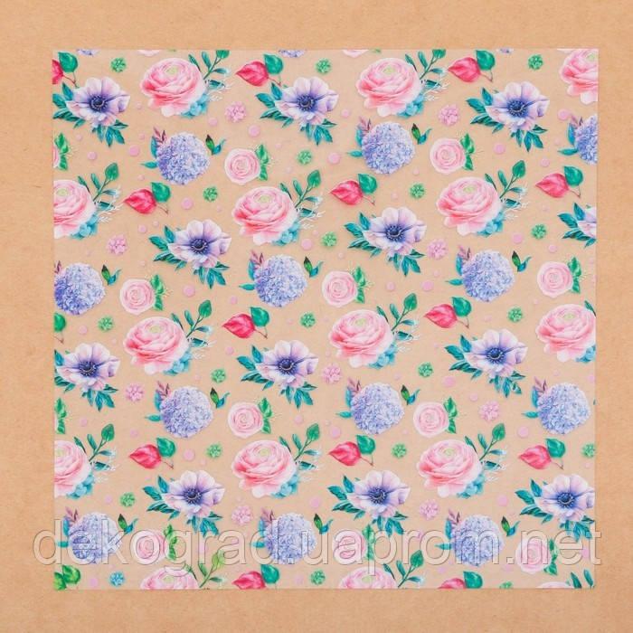 Ацетатный лист «Цветочная галерея», 20 × 20 см