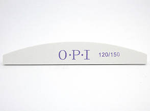 Пилка для нігтів OPI 120/150, півколо, біла