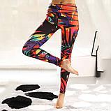 Спортивний костюм жіночий для фітнесу. Комплект лосини і топ для йоги, спорту, тренувань, розмір S (рожевий), фото 5
