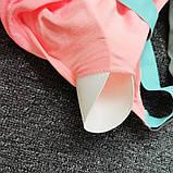 Спортивний костюм жіночий для фітнесу. Комплект лосини і топ для йоги, спорту, тренувань, розмір S (рожевий), фото 8
