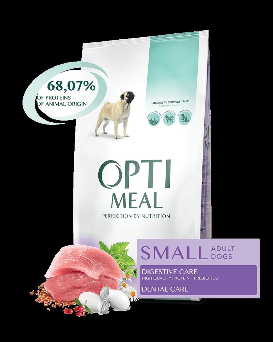 Сухой корм для взрослых собак малых пород УТКА Opti Meal 12 кг
