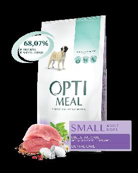 Opti Meal 12 кг. Корм для взрослых собак малых пород УТКА