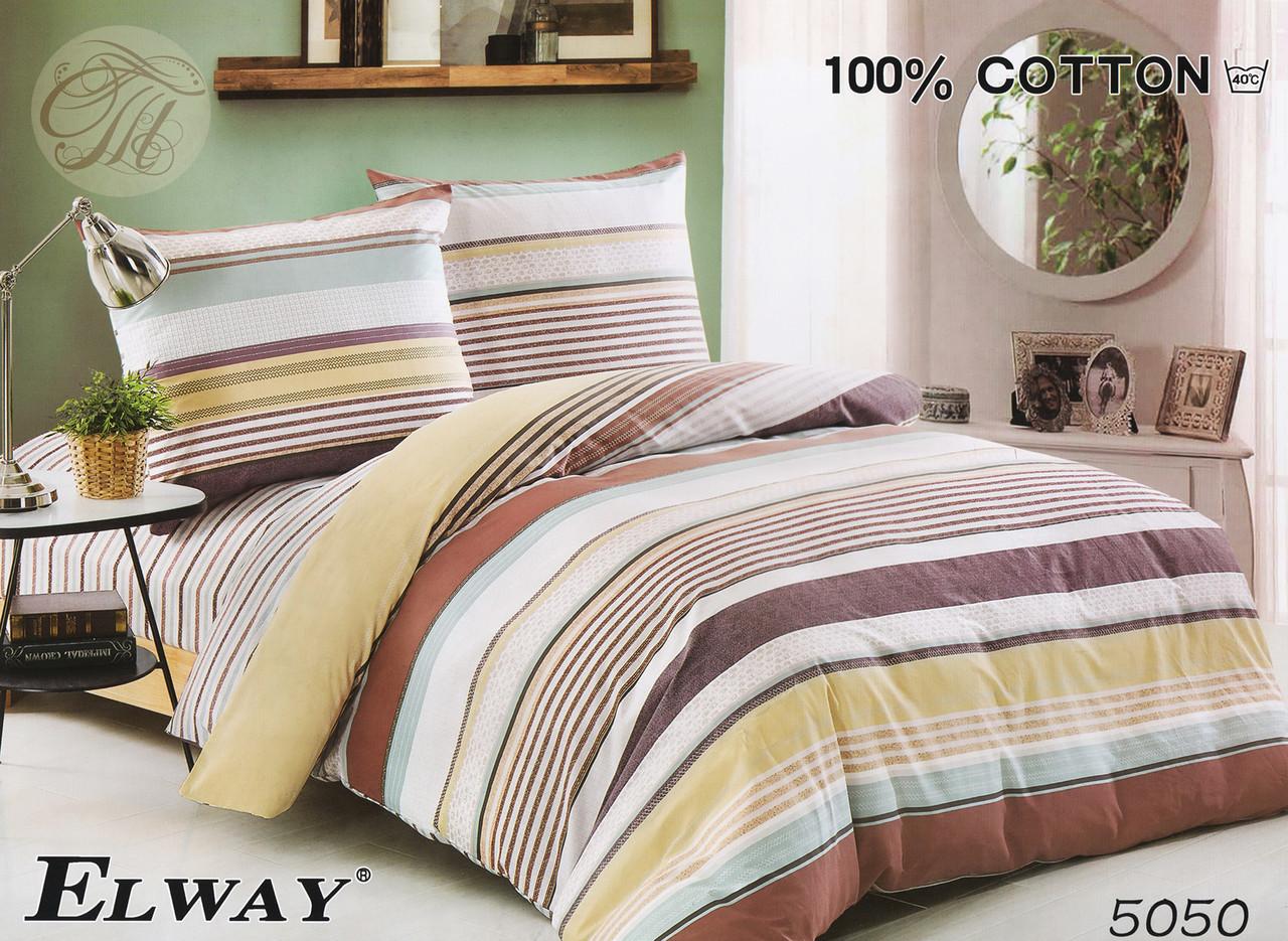 Комплект постельного белья ELWAY евро 5050 сатин
