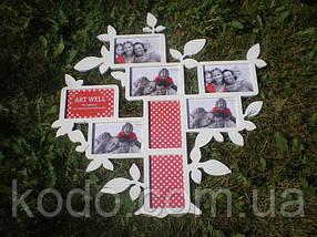 Фоторамка мультирамка коллаж из Дерева на 10 фото 10х15