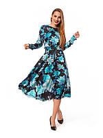Длинное повседневное платье с принтом, фото 1