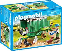 Playmobil 70138 Country Mobile Chicken House Плеймобил Передвижной курятник
