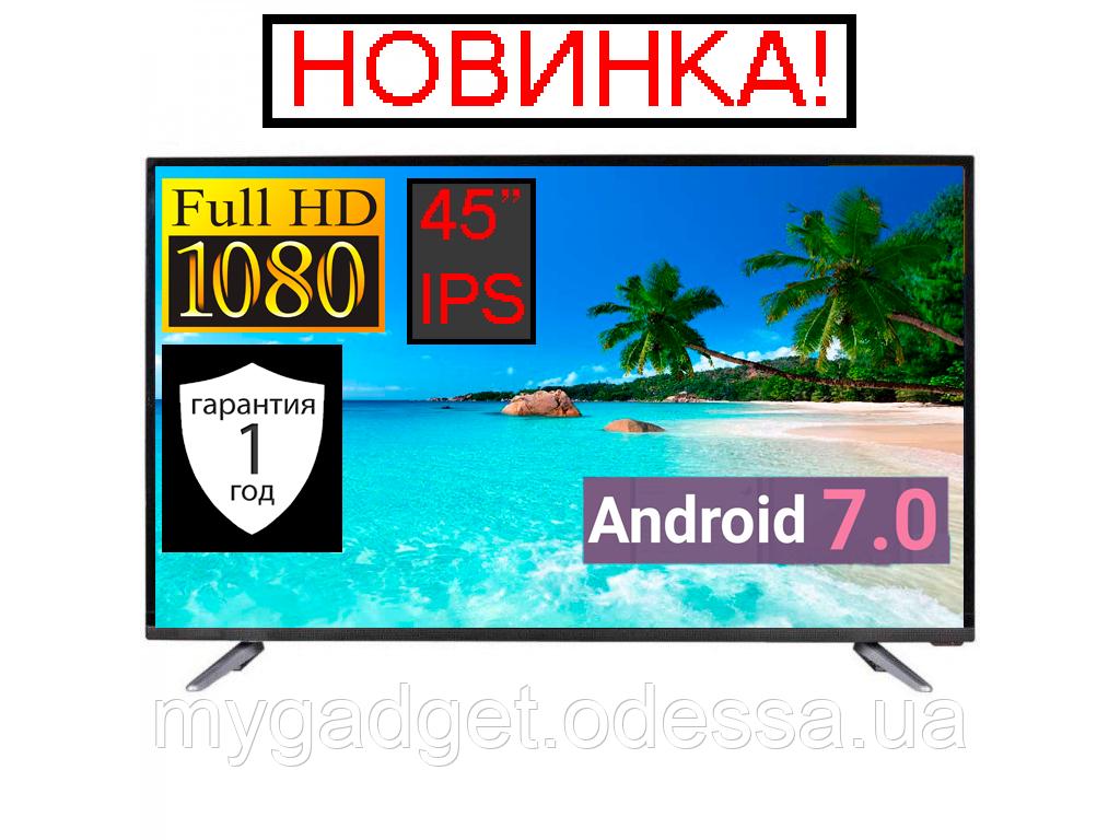 "Телевизор LED TV 45"" SmartTV FullHD Android 7.0 HDMI USB VGA"