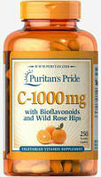 Puritan's Pride Vitamin C-1000 mg with Bioflavonoids and Rose Hips (250 таб.)