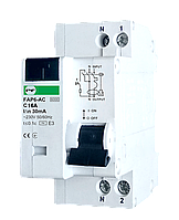 Дифф автомат FAP6-AC 2p 16A 30mA Promfactor