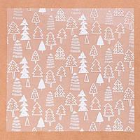 Ацетатный лист для скрапбукинга «Ёлочки», 15,5 × 15,5 см, 25 мкм