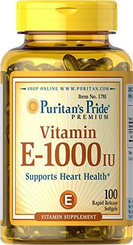 Puritan's Pride Vitamin E-1000 IU (100 капс.)