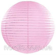 Бумажный подвесной шар розовый, 20 см.