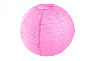 Бумажный подвесной шар малиновый, 20 см.