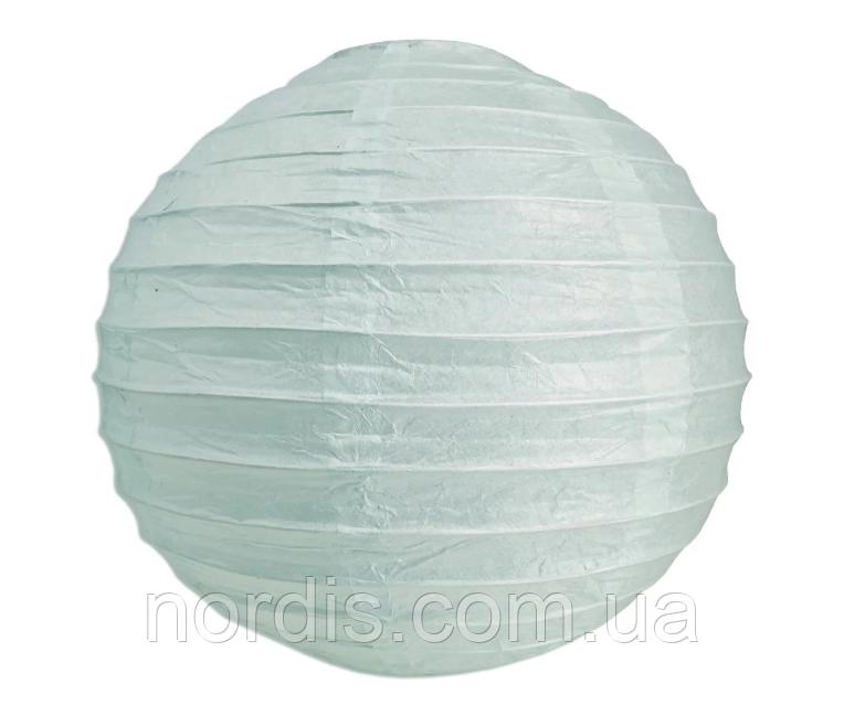 Бумажный подвесной шар нежно лазурный, 20 см.