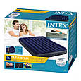 Двомісний надувний матрац Intex Classic Downy Airbed, 203х152х25см (64765) з двома подушками, ручним насосом, фото 6