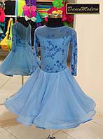 Платье для бальных танцев бейсик Sky Blue - geo