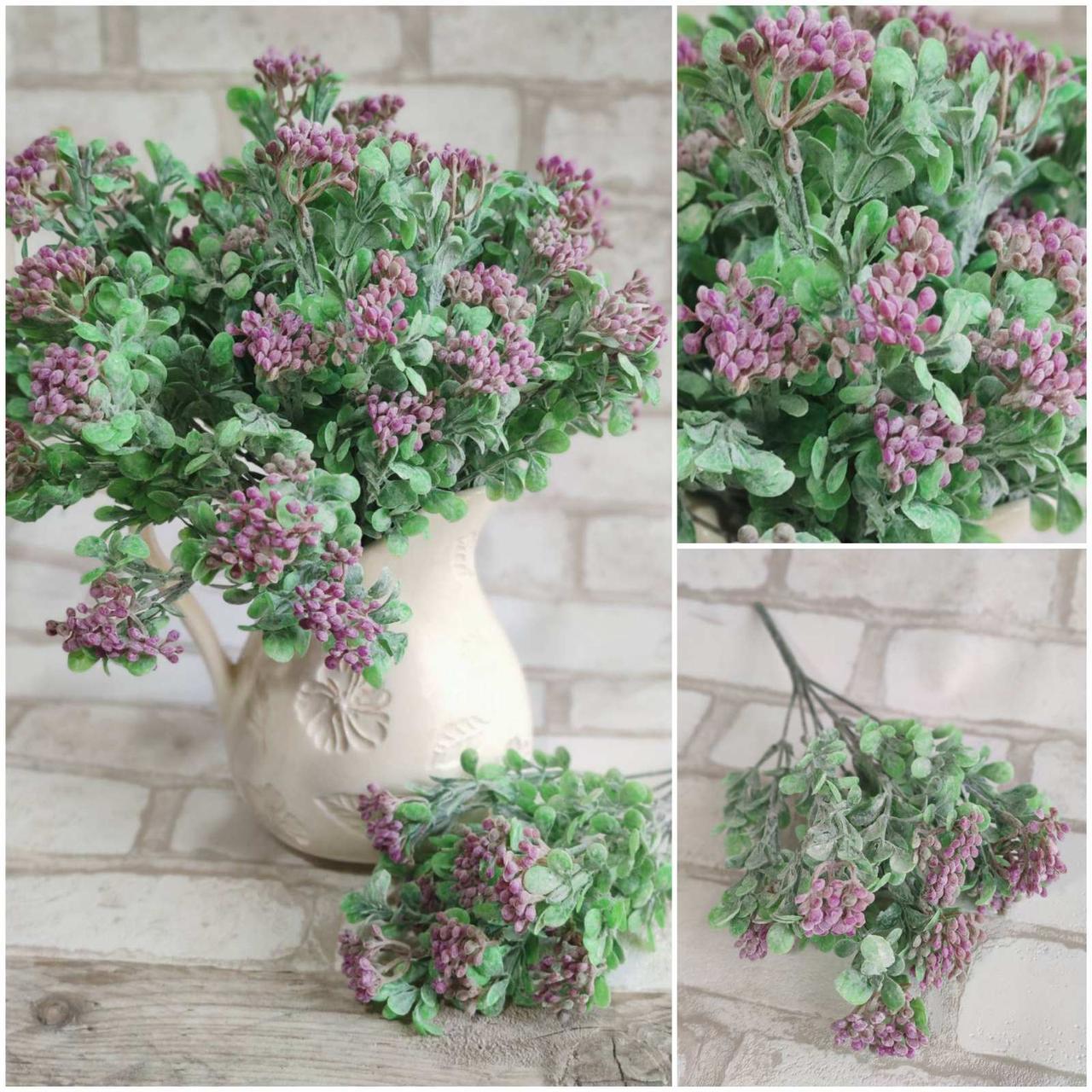 Букетик штучних квітів, інтер'єрних, декоративних, 7 гілочок, вис. 30 см., 40/30 (цена за 1 шт. + 10 гр.)